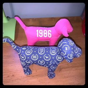 Collectible pink dogs